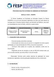 Edital 08-13 - processo externo de direito - FESP
