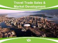 Travel Trade Sales & Market Development - Tourism Vancouver