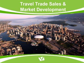 Travel Trade Sales & Market Development - Tourism Vancouver