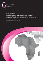 Redesigning African Economies - Royal Academy of Engineering