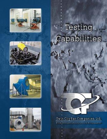 Testing Capabilities - Twin City Fan & Blower