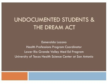 Undocumented Students: Dreams Deferred Until Further ... - AACRAO