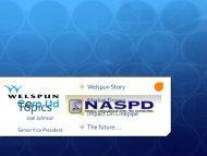 Joel Johnson, Senior Vice President Americas, Welspun ... - NASPD