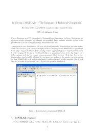 "Innføring i MATLAB - ""The language of Technical ... - intern - NTNU"