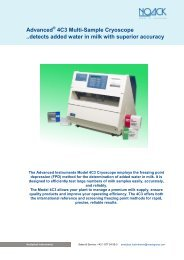 Advanced 4C3 Multi-Sample Cryoscope ..detects added ... - NOACK