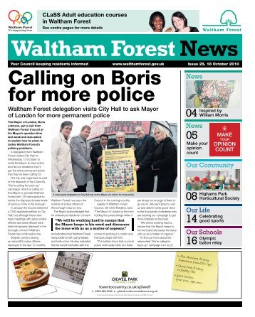 Issue 29: Calling on Boris for more: police - Waltham Forest Council