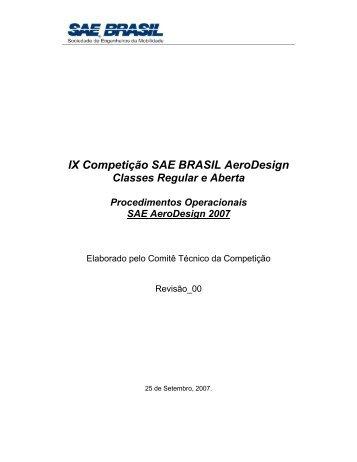 Procedimentos Operacionais 2007 - UFSC Aerodesign