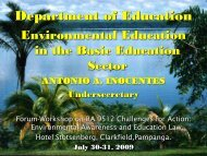 Department of Education - Environmental Management Bureau