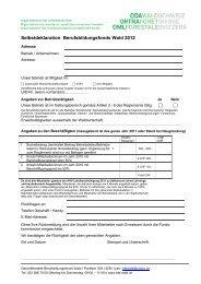 Selbstdeklaration Berufsbildungsfonds Wald 2012 - Codoc