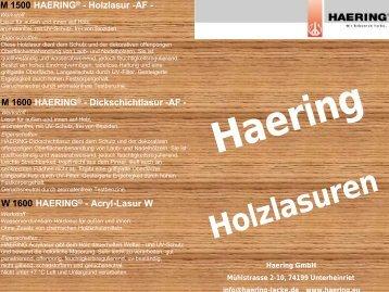 Haering Holzlasuren M 1500 HAERING® - Holzlasur