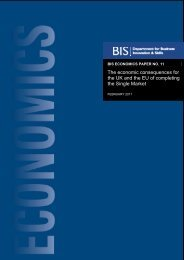 The economic consequences for the UK of completing ... - Dius.gov.uk