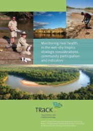 Monitoring report - TRaCK: Tropical Rivers and Coastal Knowledge