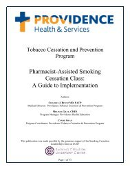 Providence Pharmacist Assisted Smoking Cessation Class