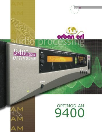 Download Optimod-AM 9400 Brochure - Orban