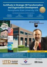 Certificate in Strategic HR Transformation and Organization ...