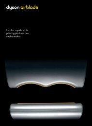 Brochure du sèche-mains Dyson Airblade - untec