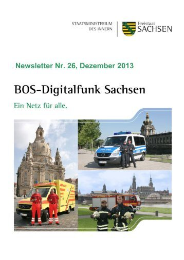 BOS Digitalfunk Sachsen Newsletter Nr. 26