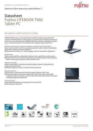 Datasheet Fujitsu LIFEBOOK T900 Tablet PC