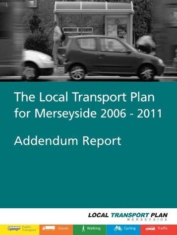Addendum Report - the TravelWise Merseyside website