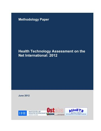 HTA Info Guide 2012.pdf - Institute of Health Economics