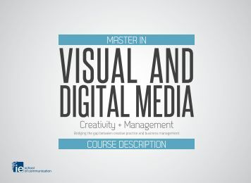 Course Description - Master in Visual and Digital Media - IE