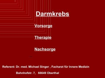 Darmkrebs - Endoskopie (346 KB)