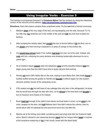 Subject Verb Agreement Exercise 3 Grammar Bytes