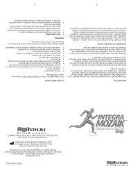 Integra Mozaik ™ Strip 2010 - Integra LifeSciences