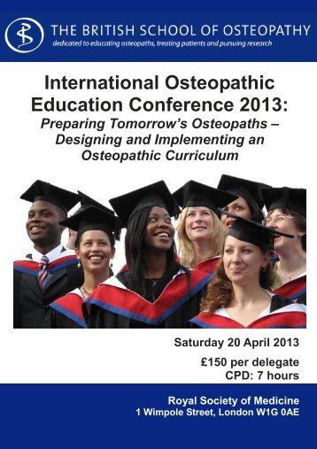 to download the information pack - British School of Osteopathy