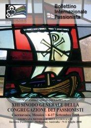 XIII SINODO GENERALE DELLA ... - Passio Christi
