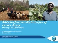 Food security in the face of climate change - DairyTas