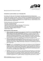 Informationen aus der Konferenz vom 07.11.2013 - BFF Bern