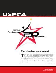 The physical component - United States Professional Tennis ...