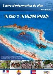 Te Reo n°9 - Haut-Commissariat de la république en Polynésie ...