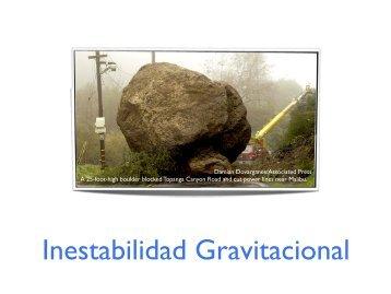 Inestabilidad Gravitacional
