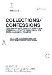 COLLECTIONS/ CONFESSIONS - Institut d'art contemporain
