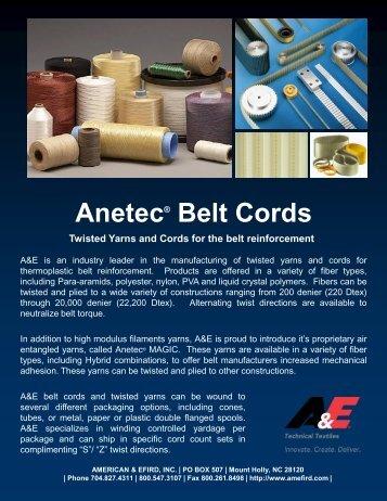 Download Belt Cord Flyer (pdf) - American & Efird, Inc