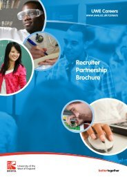 Recruiter Partnership Brochure - University of the West of England
