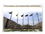 Pacemakers and Implantable Defibrillator - Sha-conferences.com