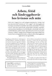 Arbete, fritid och ländryggsbesvär hos kvinnor ... - Lunds universitet
