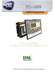 TCGen Bedienungsanleitung - DSL electronic ® GmbH