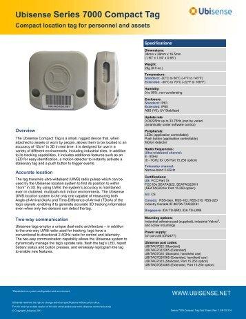 Ubisense Series 7000 Compact Tag