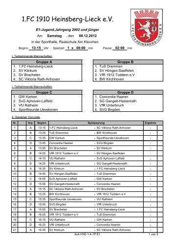 E1_Spielplan - 1. FC. 1910 Heinsberg-Lieck e.V.