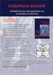 EUROPEAN REVIEW - Academia Europaea