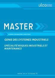 Master Risques Industriels et Maintenance - Université du Littoral ...