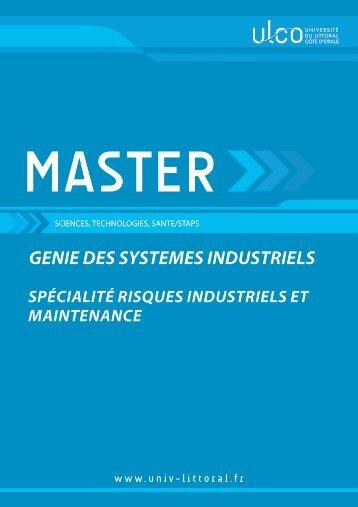 Master Risques Industriels et Maintenance - Université du Littoral ...