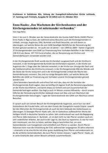 Haaks in Svetdienas Rits - Gustav-Adolf-Werk