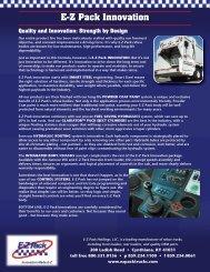 E-Z Pack Innovation - EZ Pack Trucks