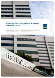 Assembleias Gerais Extraordinárias e Ordinária de ... - BM&FBovespa