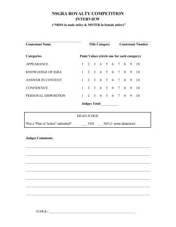 essay contest score sheet